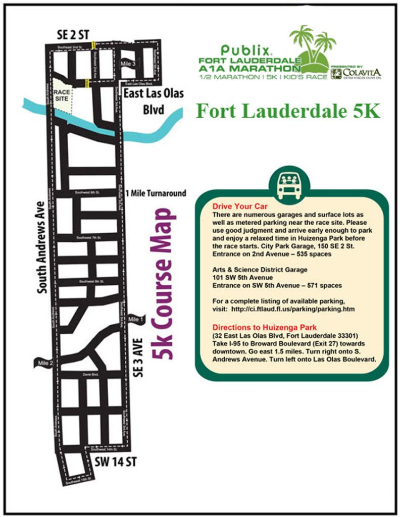 Fort Lauderdale 5K Map